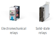 Electro mechanical relays and solid state relays